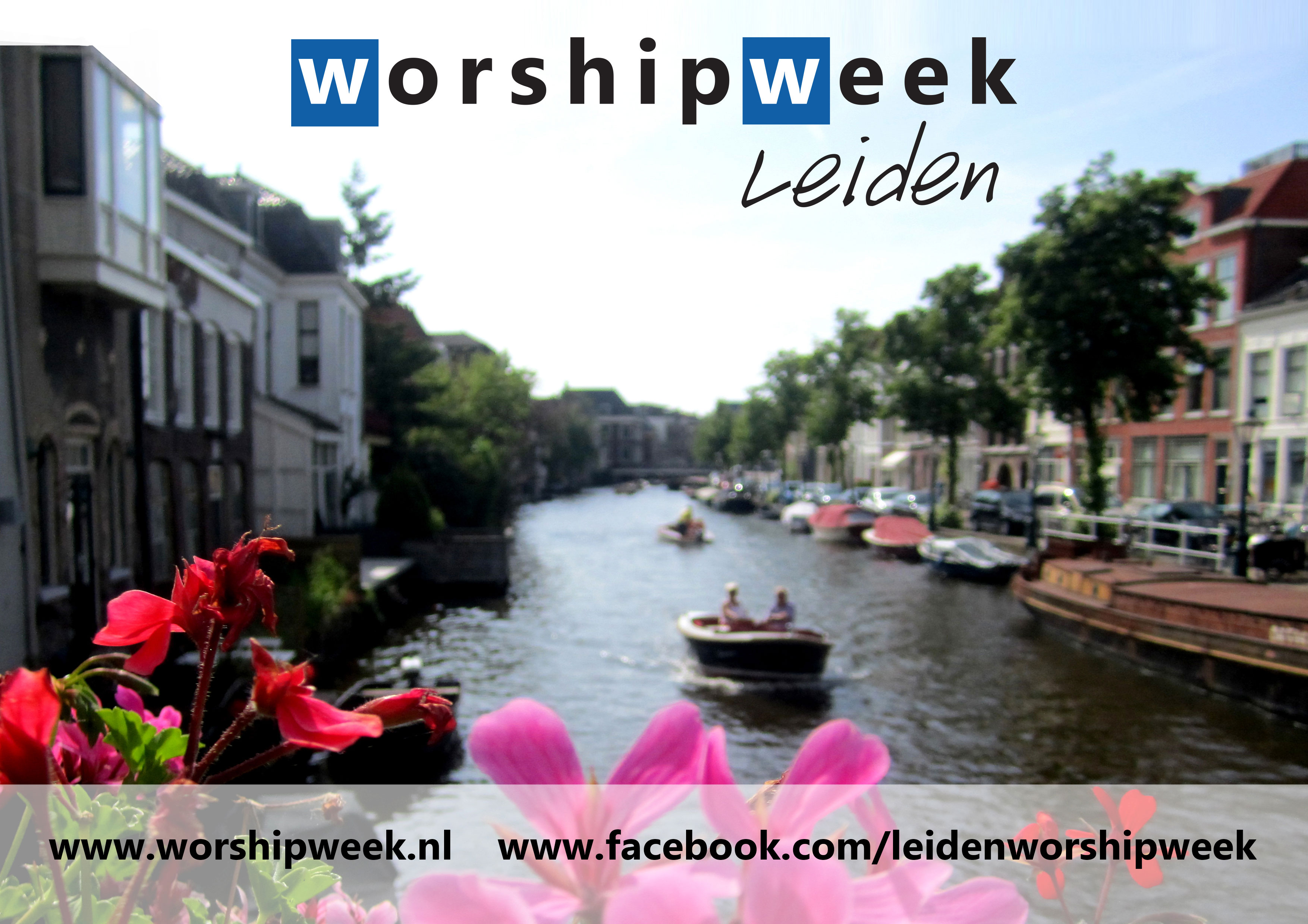 digitale flyer voor Worship Week Leiden